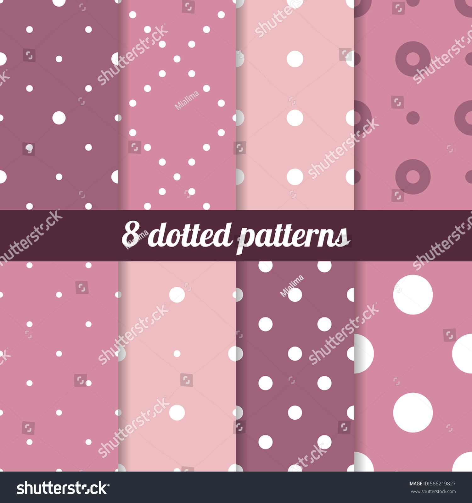 Vector set seamless dotted patterns polka stock vector 566219827 vector set of seamless dotted patterns polka backgrounds collection voltagebd Images