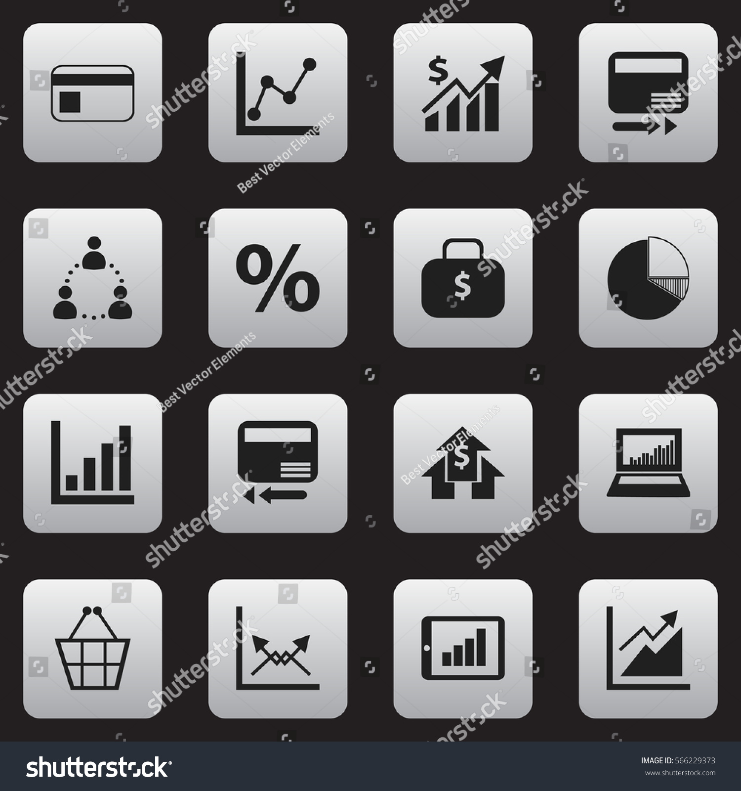 Set 16 Editable Logical Icons Includes Stock Vector 566229373