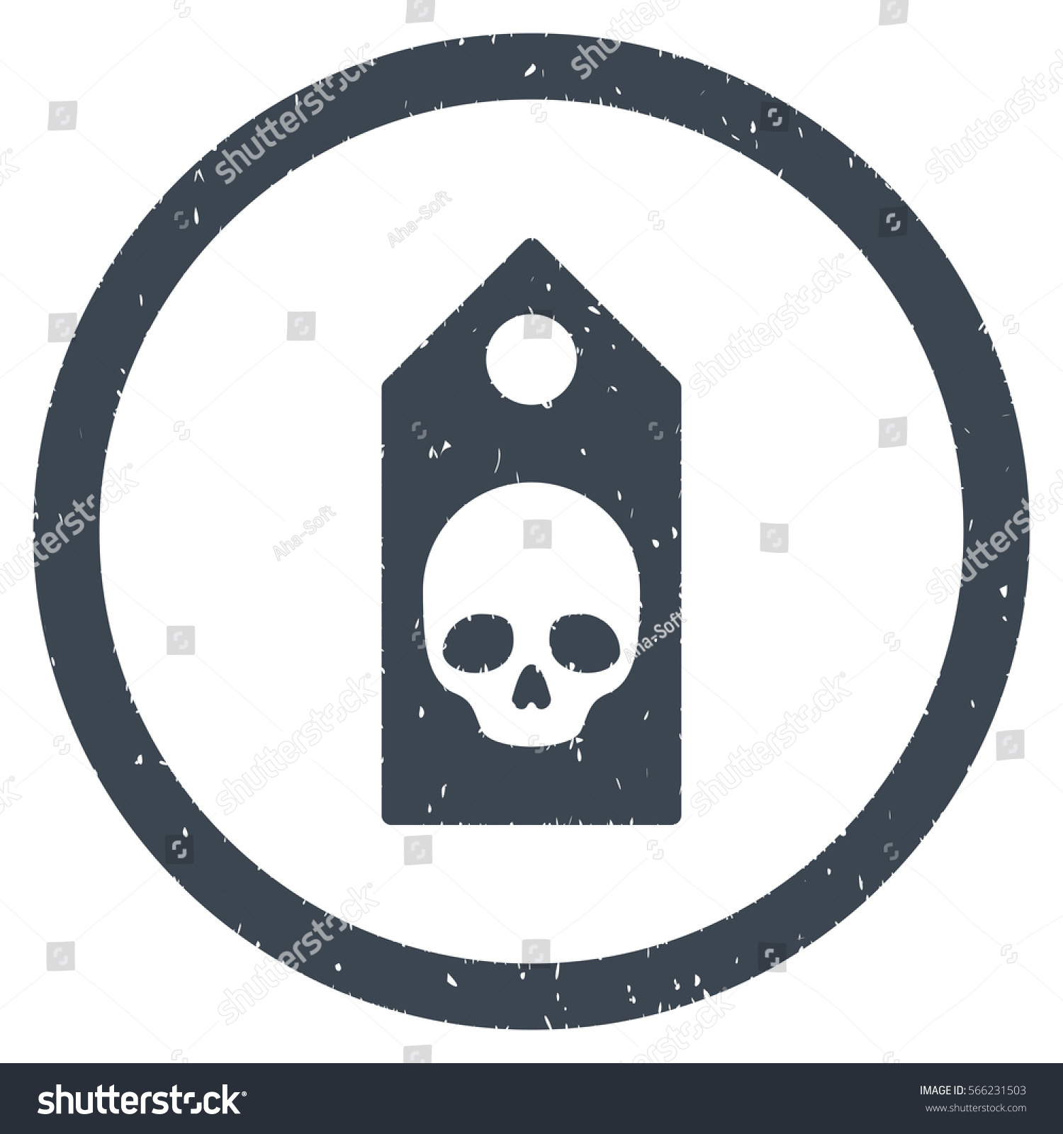Death Coupon Grainy Textured Icon Inside Stock Illustration