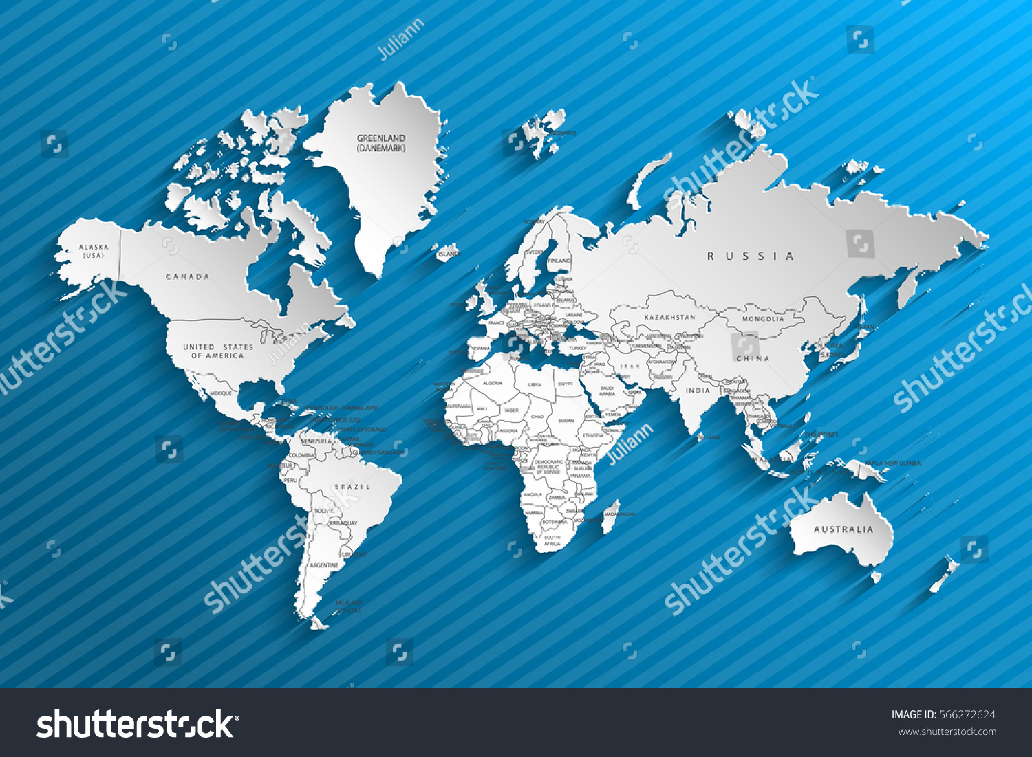 Political map world gray world mapcountries stock vector 566272624 political map of the world gray world map countries vector illustration gumiabroncs Images