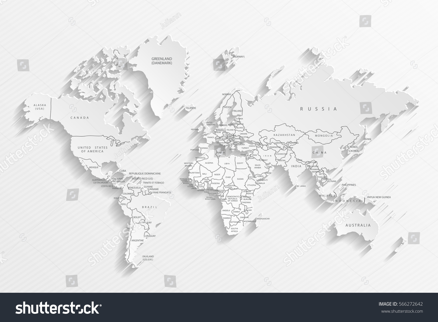 Political map world gray world mapcountries vectores en stock political map of the world gray world map countries vector illustration gumiabroncs Choice Image