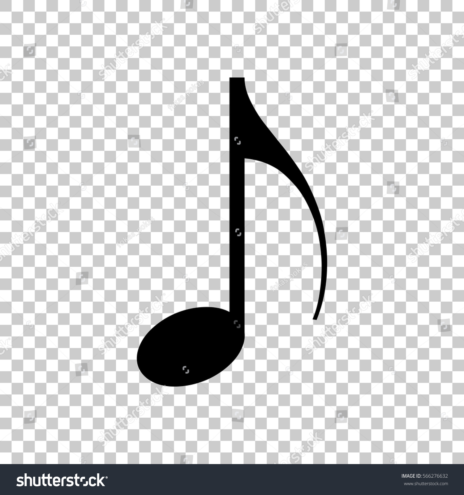 Music note icon black icon on stock vector 566276632 shutterstock music note icon black icon on transparent background altavistaventures Images
