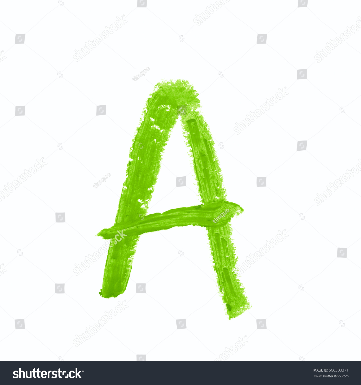 Single Abc Latin Letter Symbol Drawn Stock Photo Image Royalty