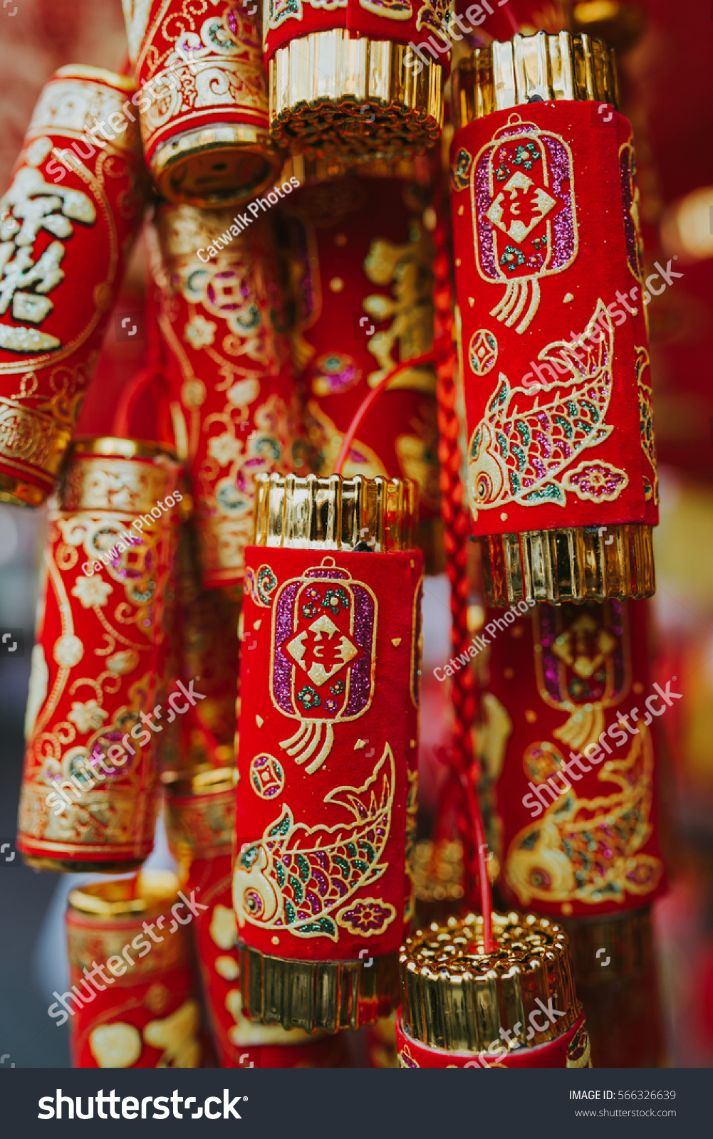 Chinese new year 2017 decorations stock photo 566326639 for Chinese decorations