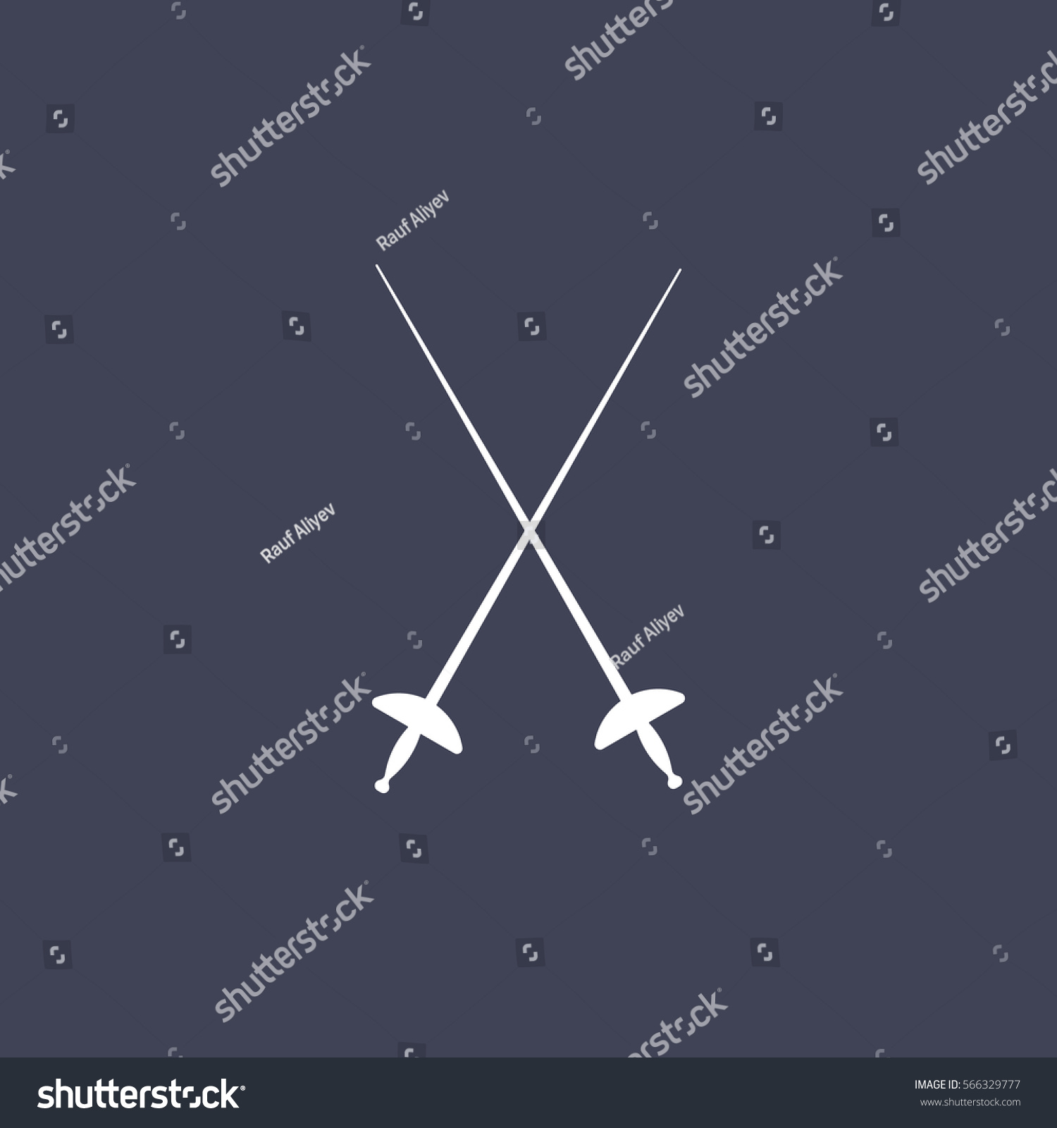 Sword Icon Stock Vector (Royalty Free) 566329777 - Shutterstock