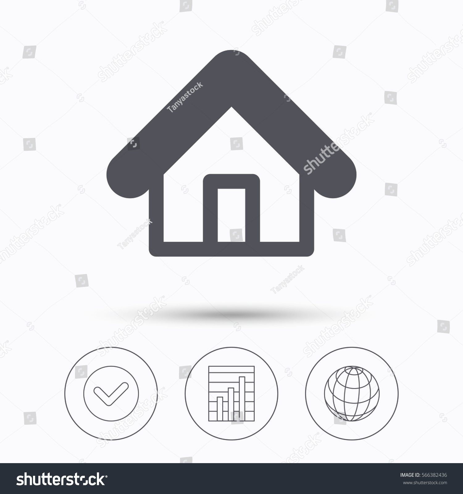 Home Icon House Building Symbol Real Stock Illustration Royalty