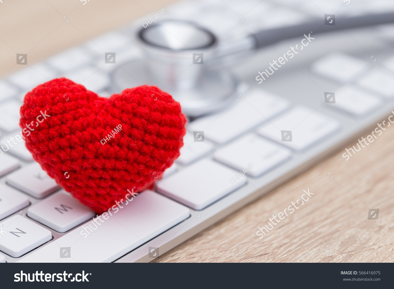 Stethoscope red heart on keyboard stock photo 566416975 shutterstock stethoscope with red heart on keyboard biocorpaavc Images