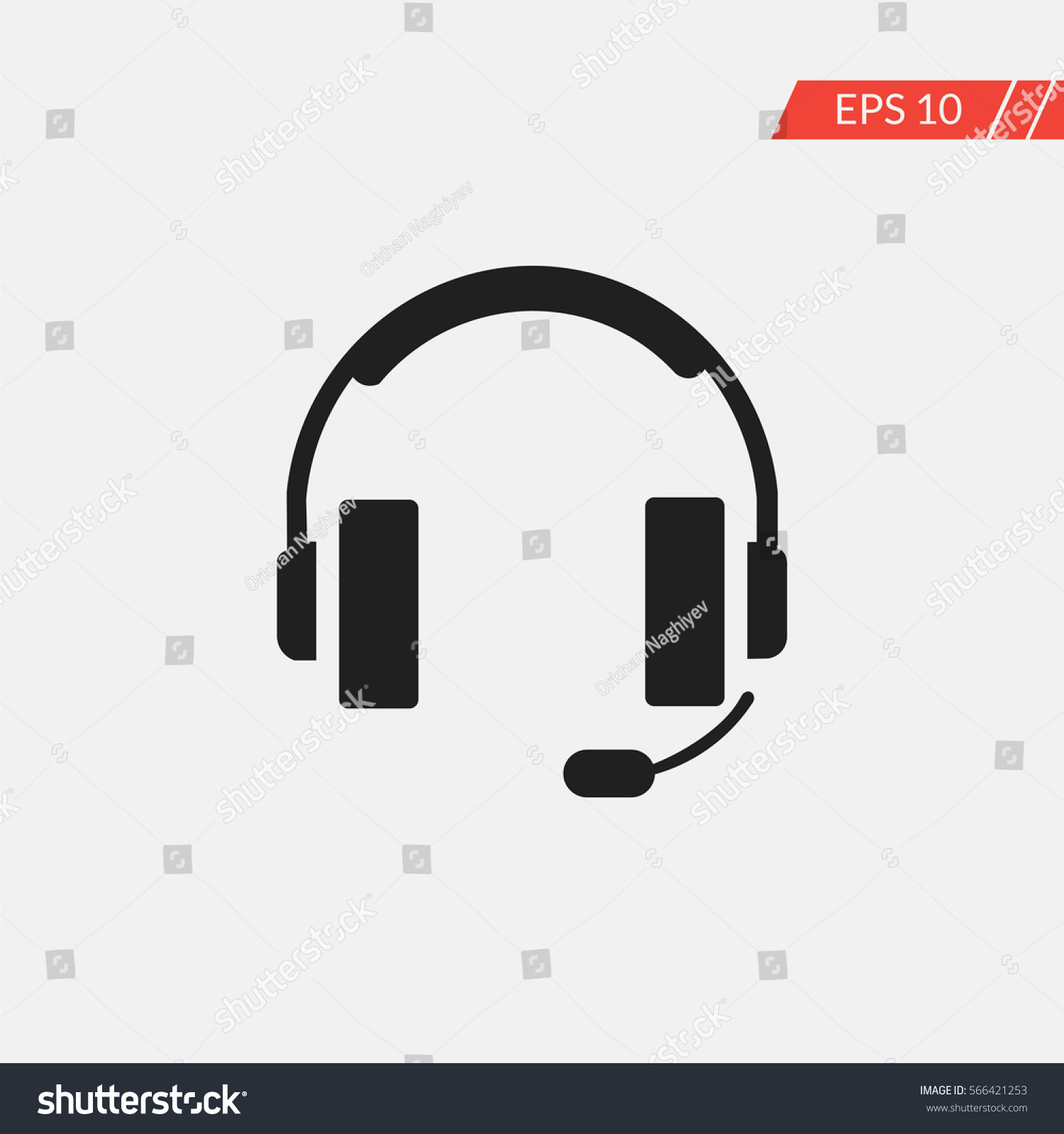 Headset Vector Icon Stock-Vektorgrafik (Lizenzfrei) 566421253 ...