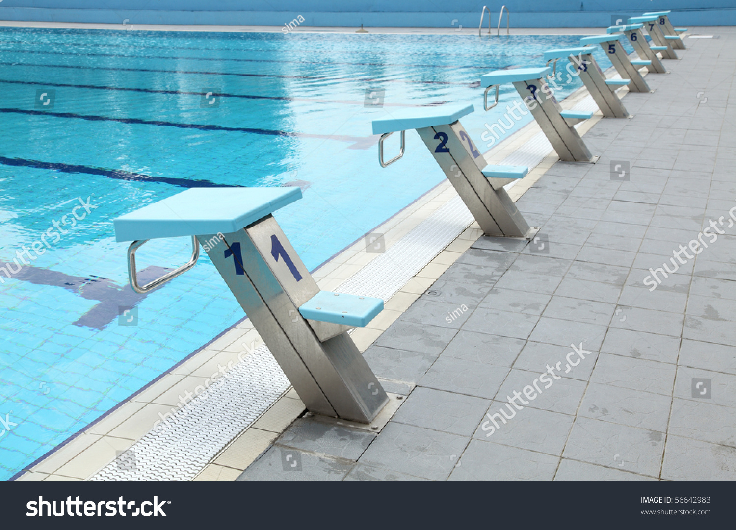 Detail Open Air Olympic Swimming Pool Stock Photo 56642983 Shutterstock