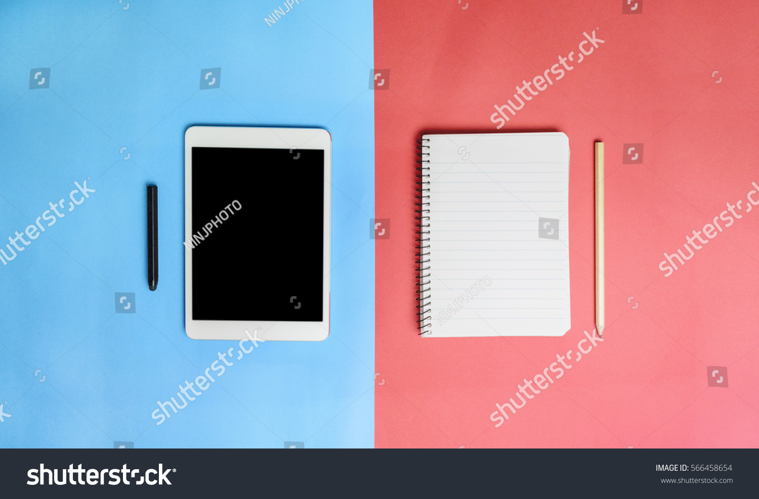 notebook pencil tablet stylus pen on stock photo royalty free