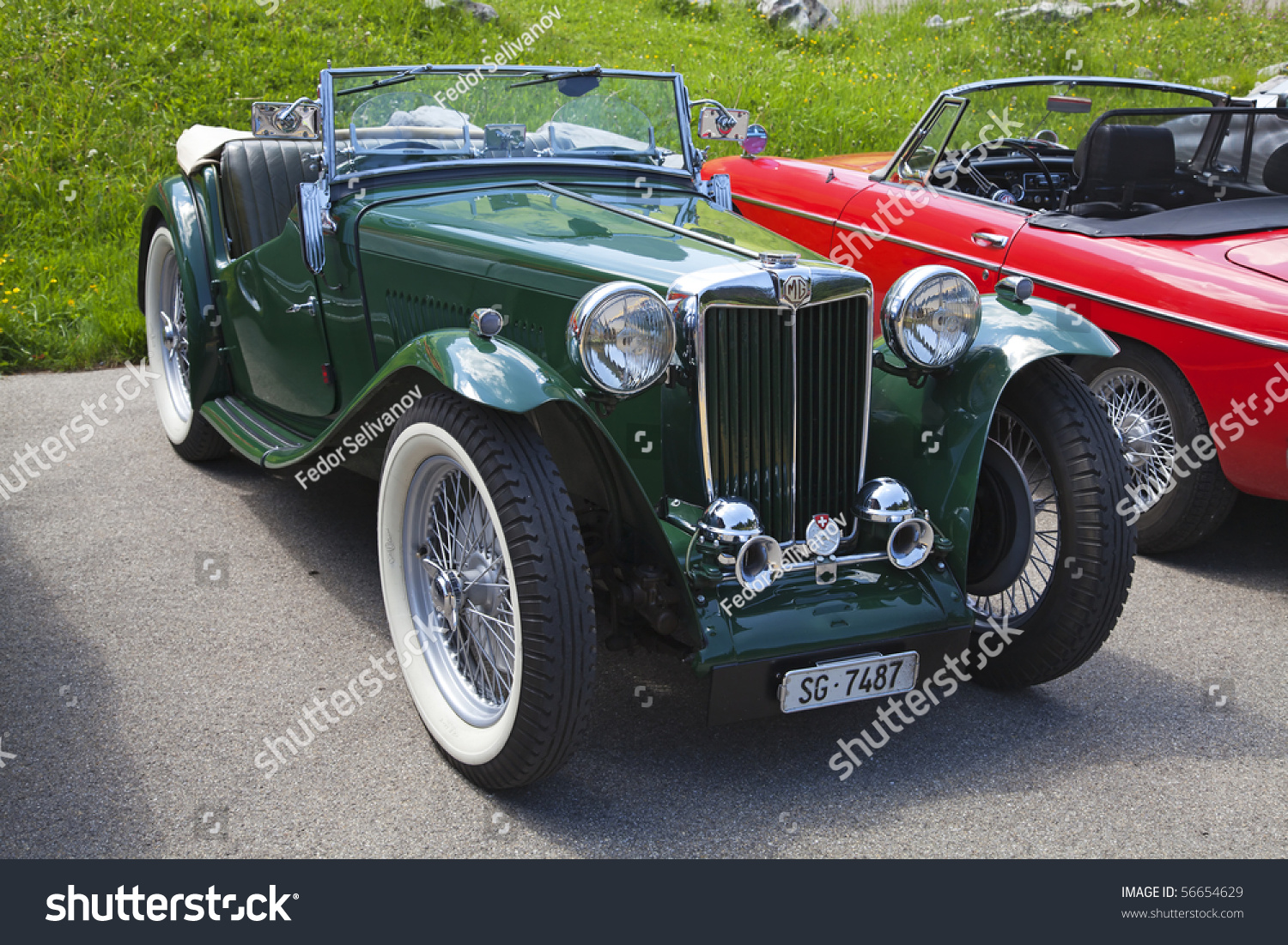 Schwaegalp June 27 Old Racing Mg Stock Photo 56654629 - Shutterstock