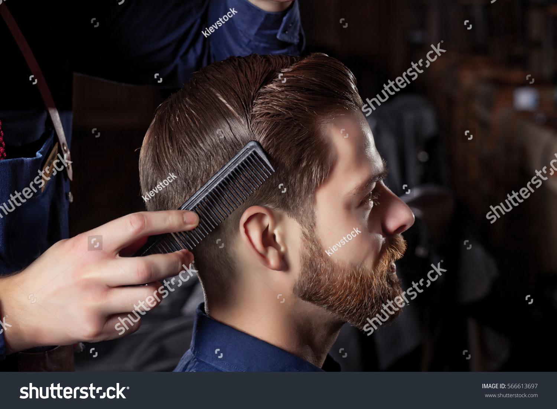 Man Barbershop Haircut Shave Men Cabin Stock Photo Royalty Free