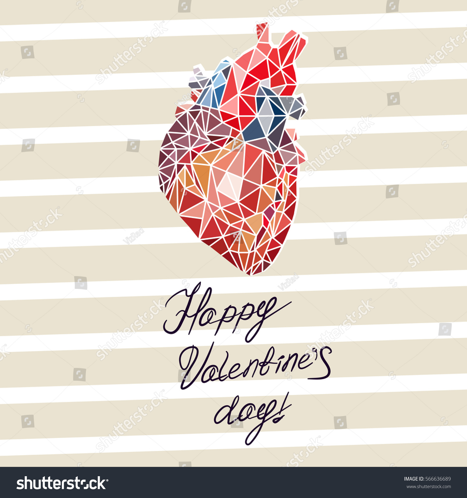 Card Valentines Day Form Abstract Anatomy Stock Photo Photo Vector