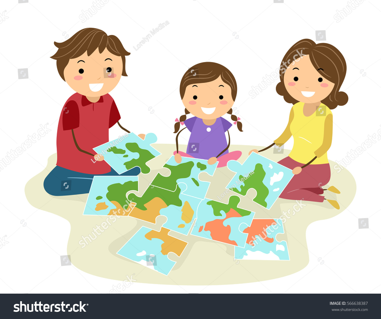 Stickman illustration family completing jigsaw puzzle vectores en stickman illustration family completing jigsaw puzzle vectores en stock 566638387 shutterstock gumiabroncs Images