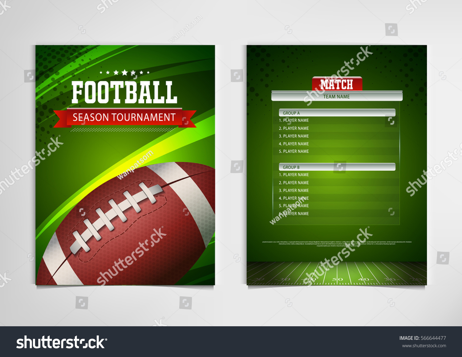 American Football Poster Banner Brochure Template Stock Vector Royalty Free 566644477