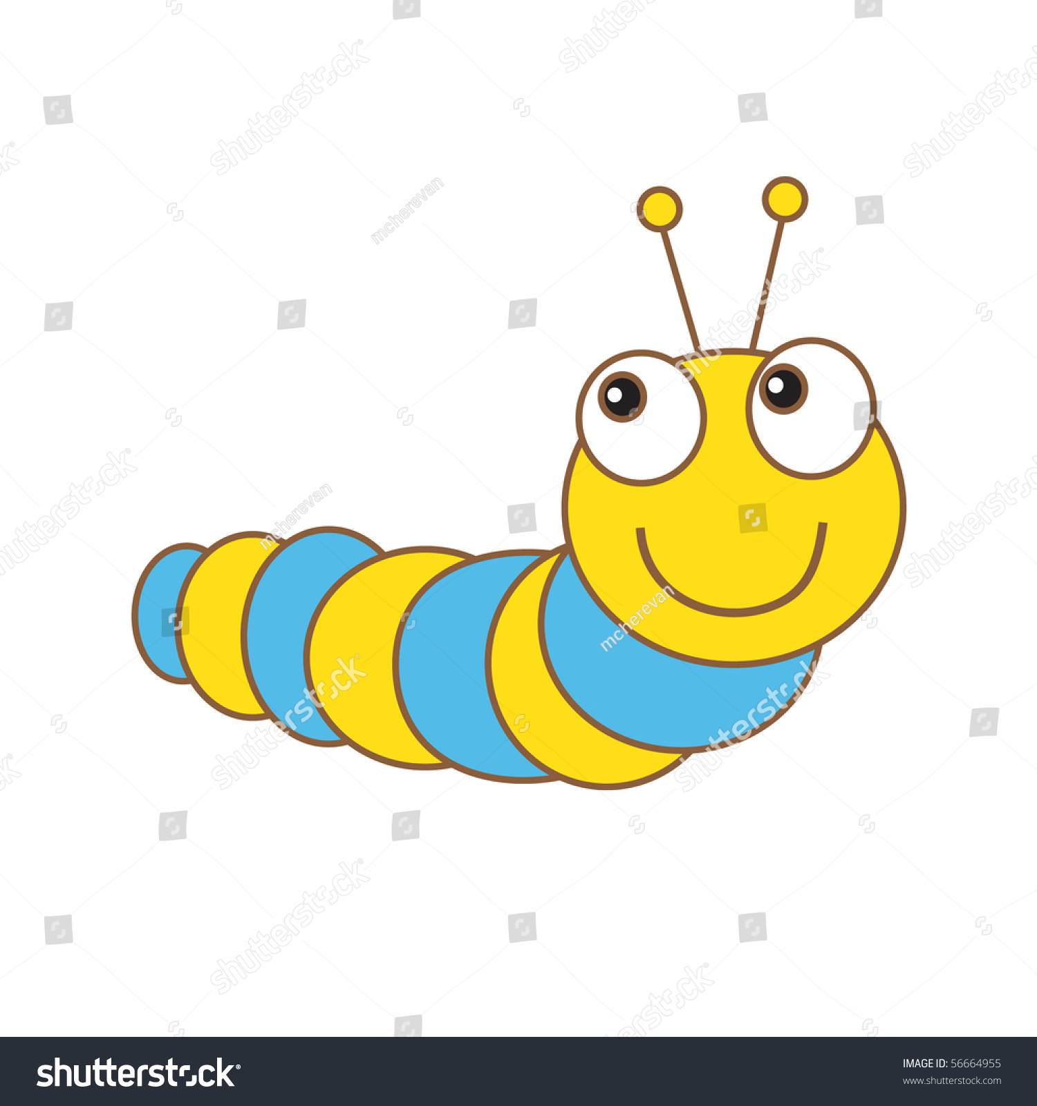 Caterpillar Stock Vector Illustration 56664955 : Shutterstock Гусеница Вектор