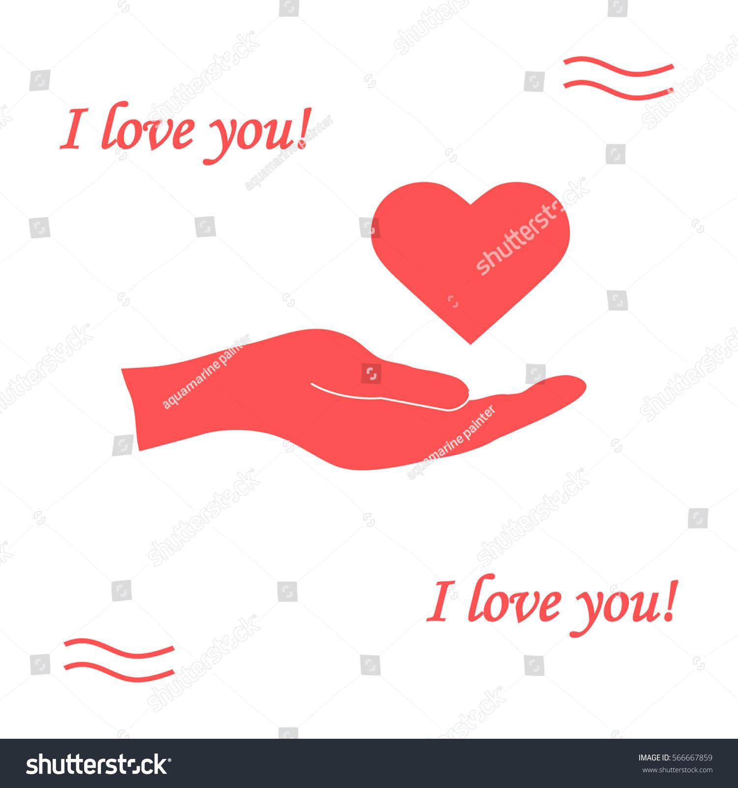 Cute vector illustration hand holds heart stock vector 566667859 cute vector illustration hand holds heart love symbol design for banner flyer buycottarizona Images