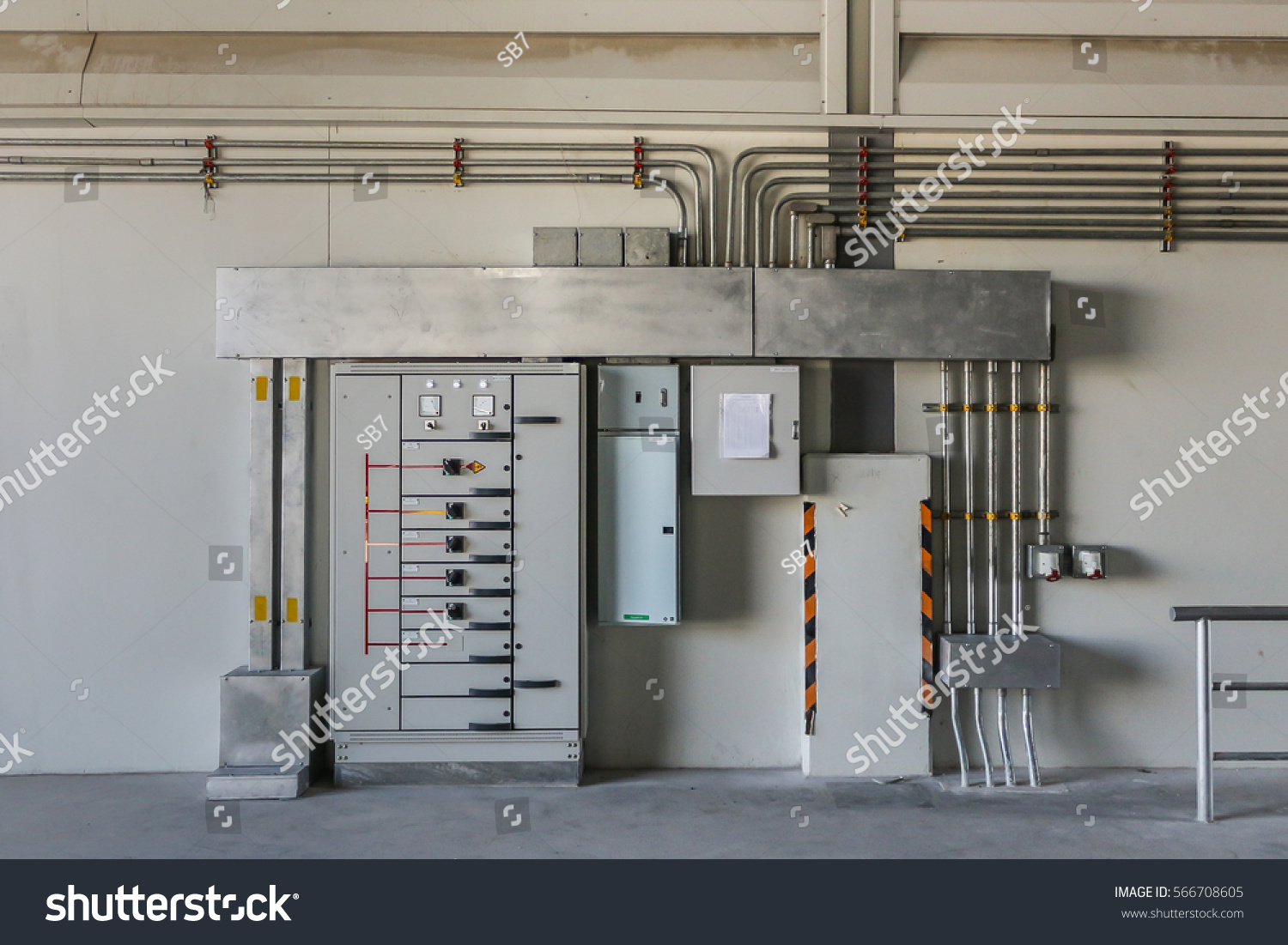 Building Electrical Panel : Electrical panel control distribute power stock