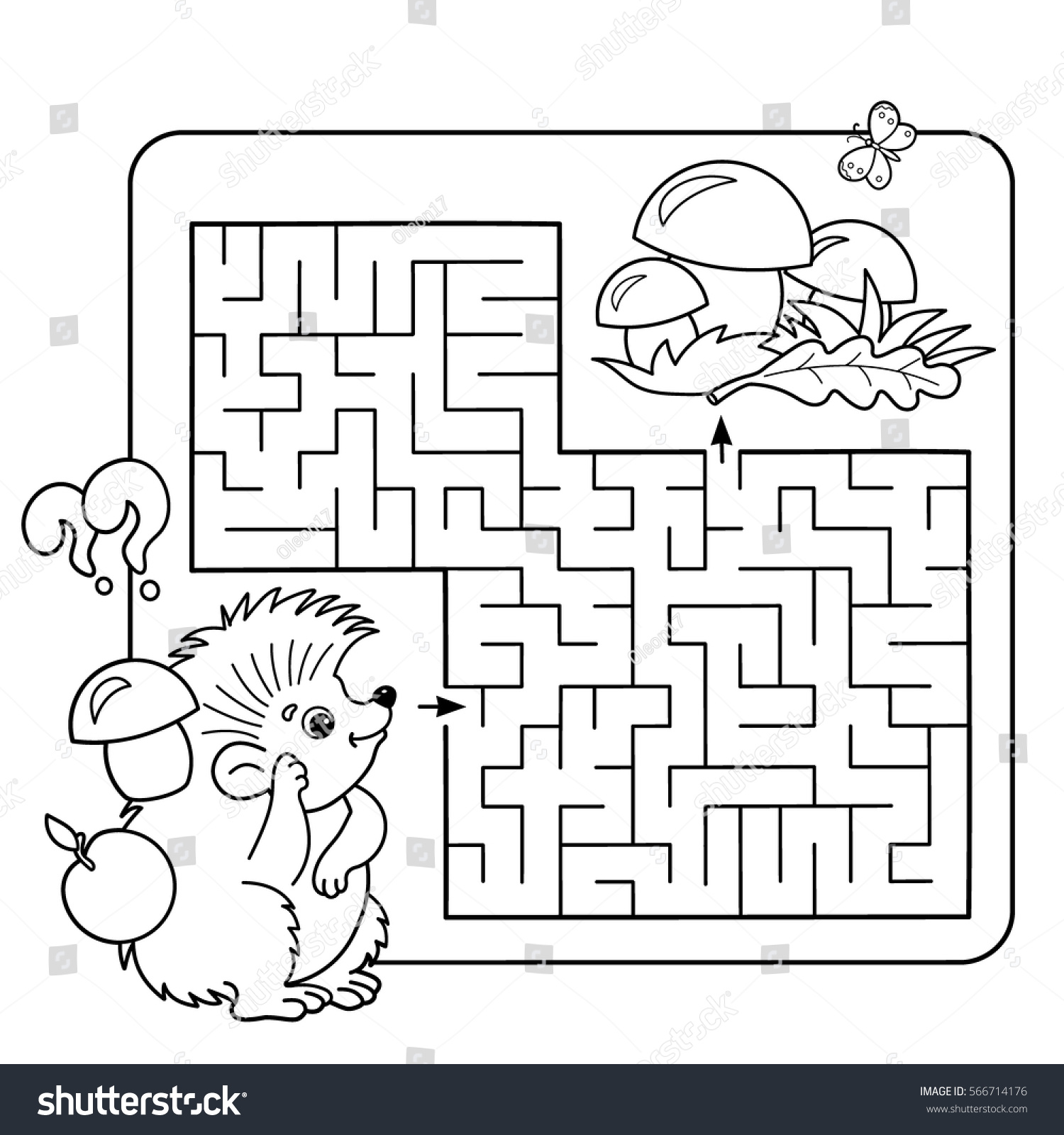 Cartoon Vector Illustration Education Maze Labyrinth Stock Vector ...