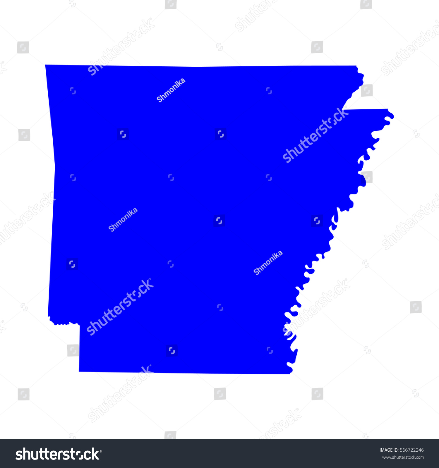 Map Us State Arkansas Vector Stock Vector  Shutterstock - Us map with arkansas
