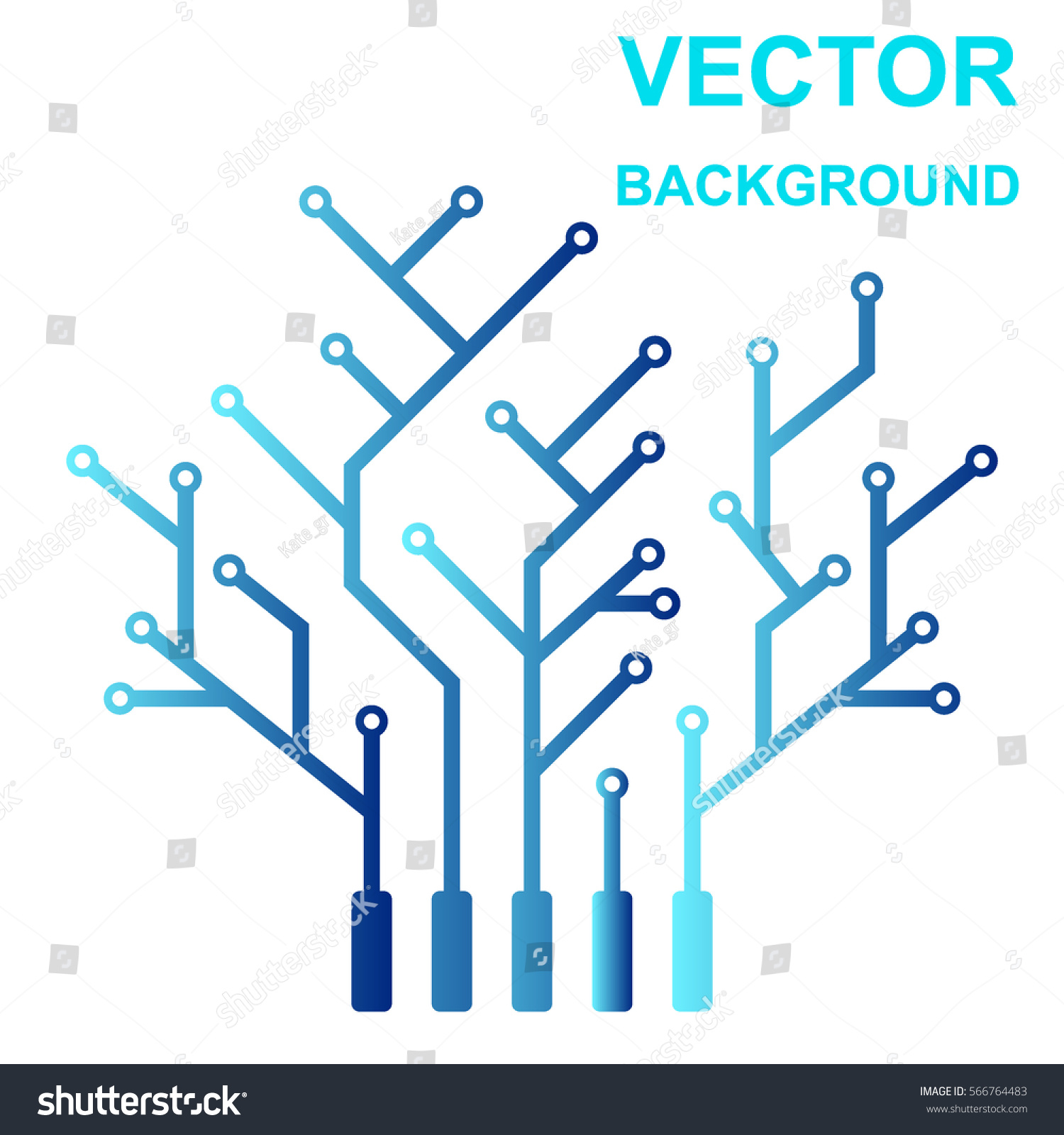Vector Icon Logo Printed Circuit Board Stock Vector (Royalty Free ...