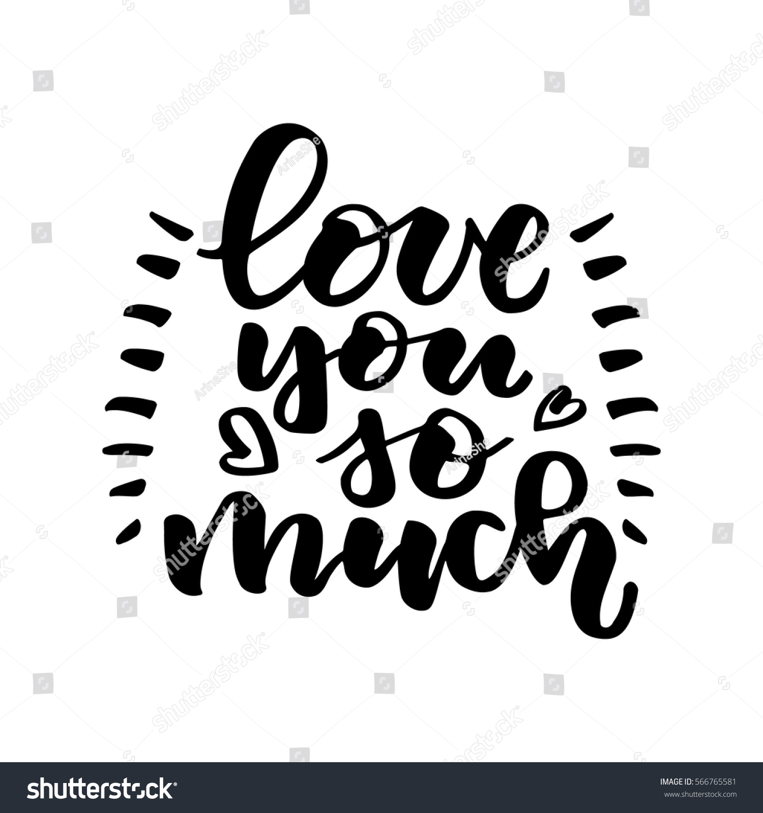 I Love You So Much Quotes Love You Much Beautiful Quote Written Stock Vector 566765581