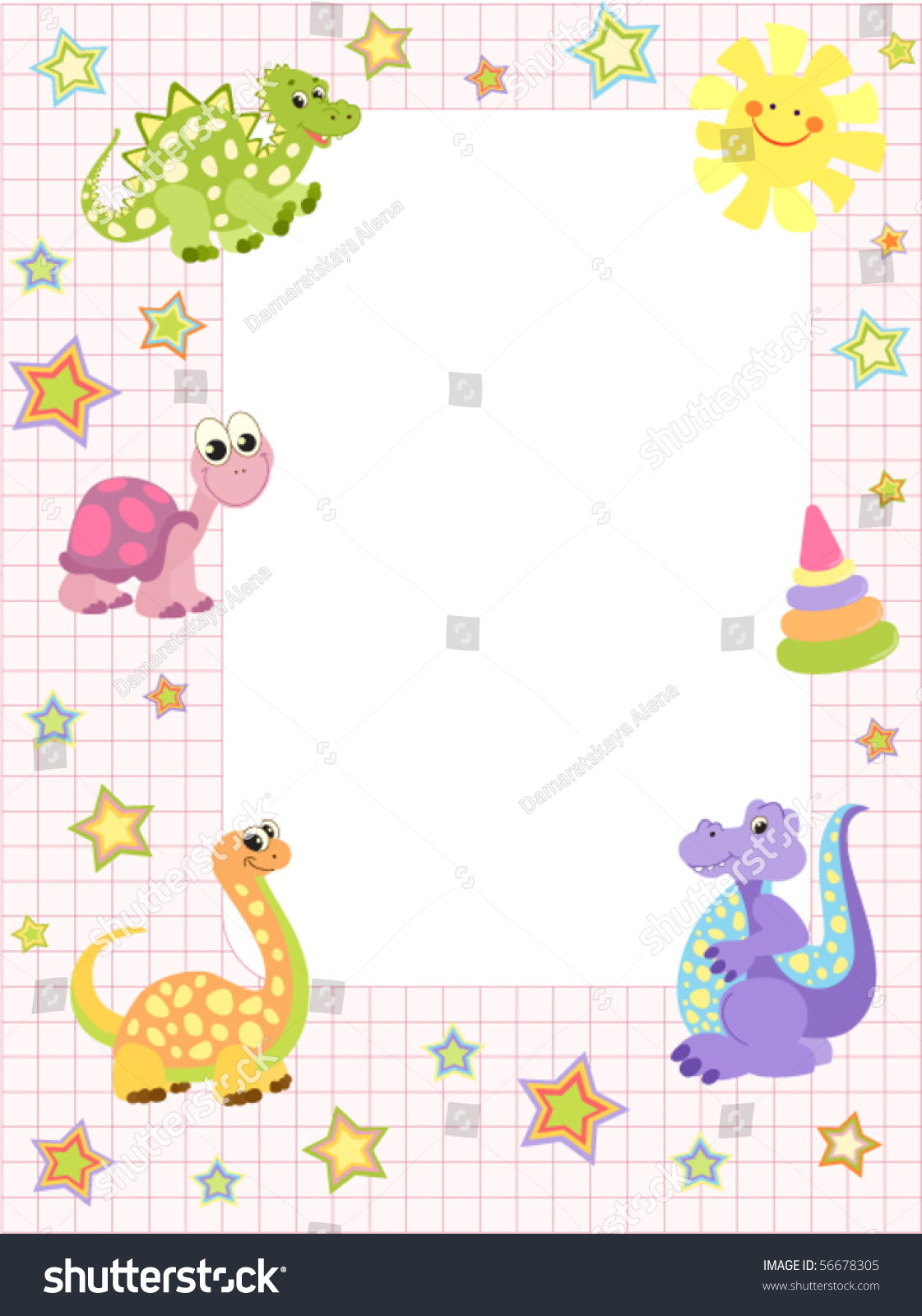 baby frame or invitation for girls