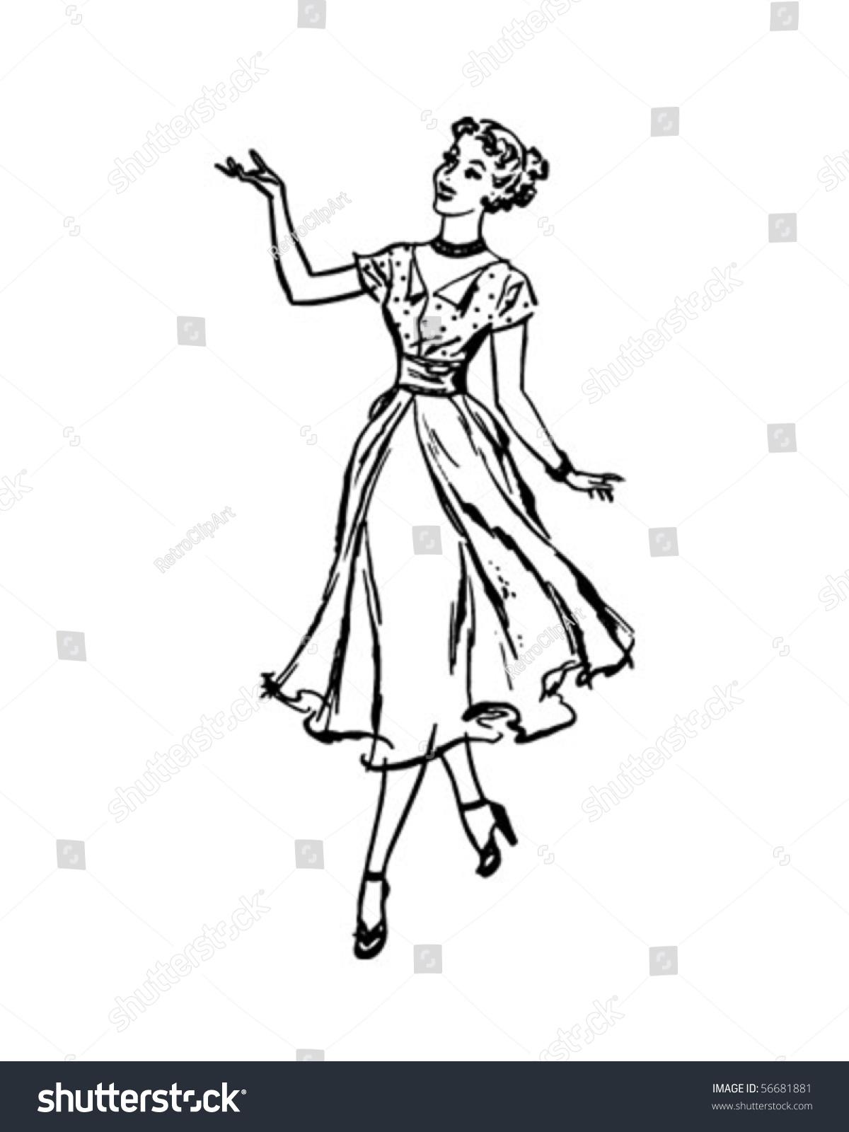 Perfect Housewife - Retro Clip Art Stock Vector ...