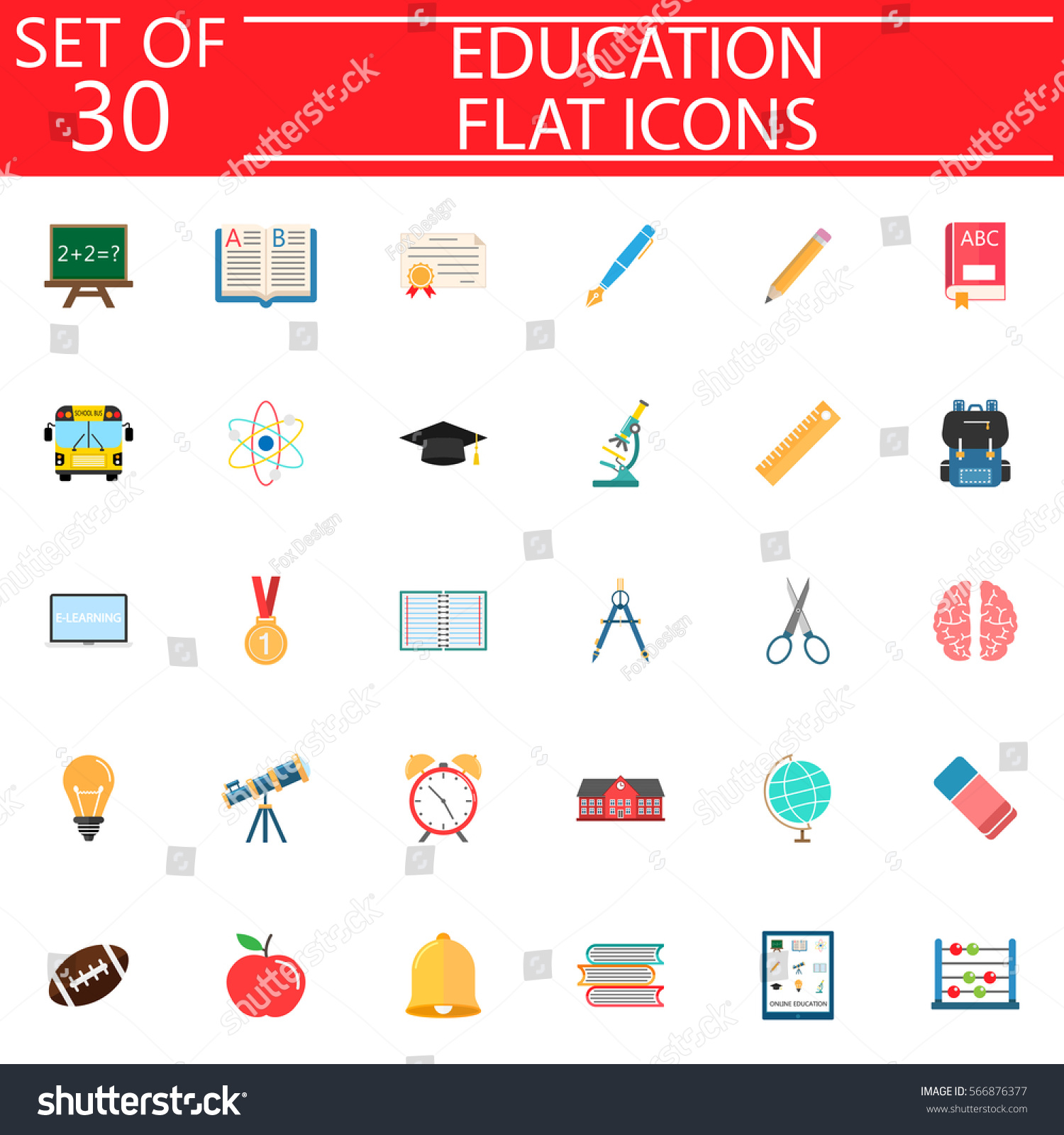 Education flat pictograms package school symbols stock vector education flat pictograms package school symbols collection web and mobile services vector sketches buycottarizona Image collections