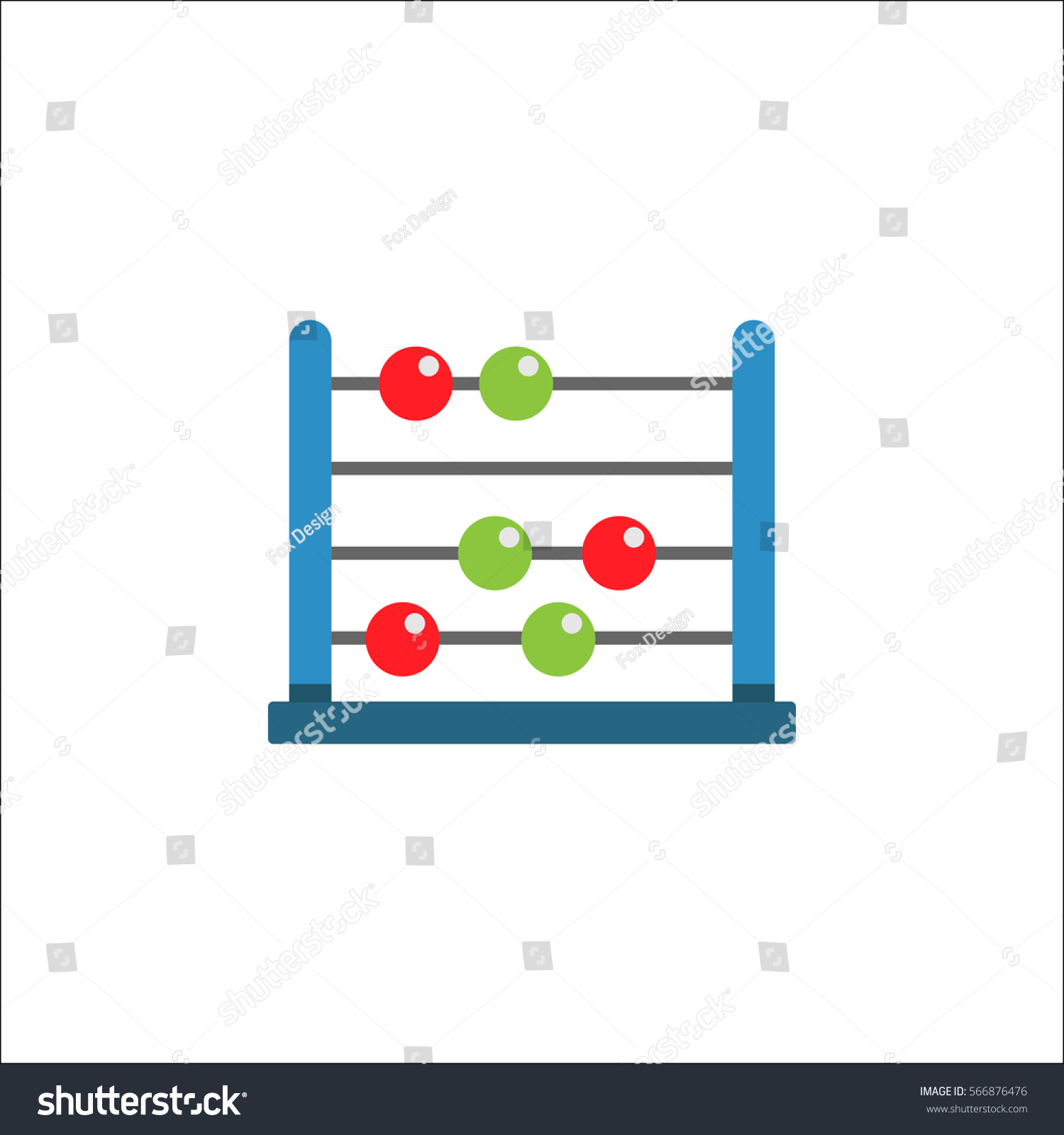 School abacus flat icon education school stock vector 566876476 school abacus flat icon education and school element math vector graphics a colorful biocorpaavc Image collections
