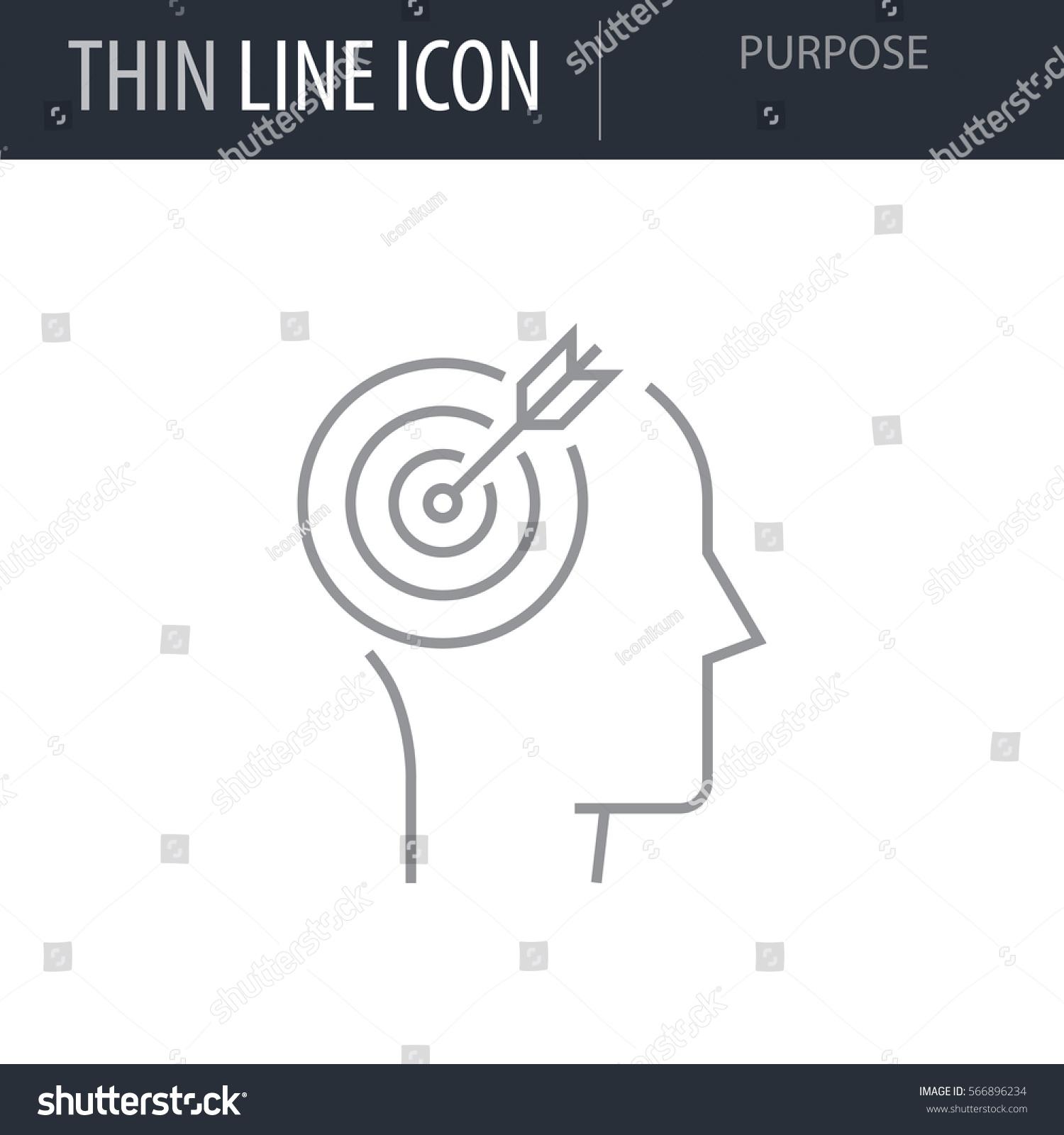 Symbol Purpose Thin Line Icon Icons Stock Vector Royalty Free