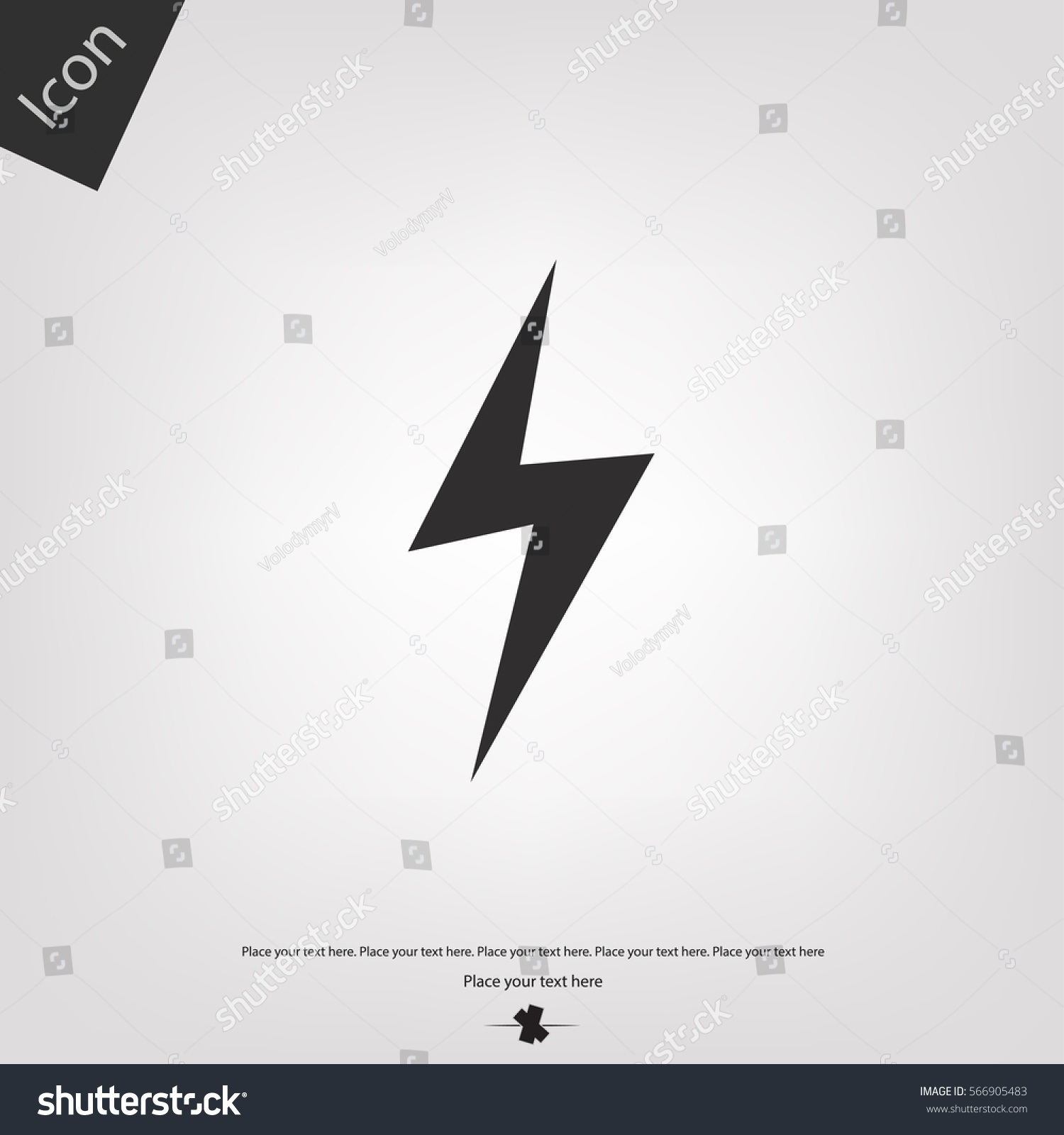 Lighting Bolt Vector Icon Sign Stock Vector 566905483 - Shutterstock for Vector Lighting Bolt  565ane