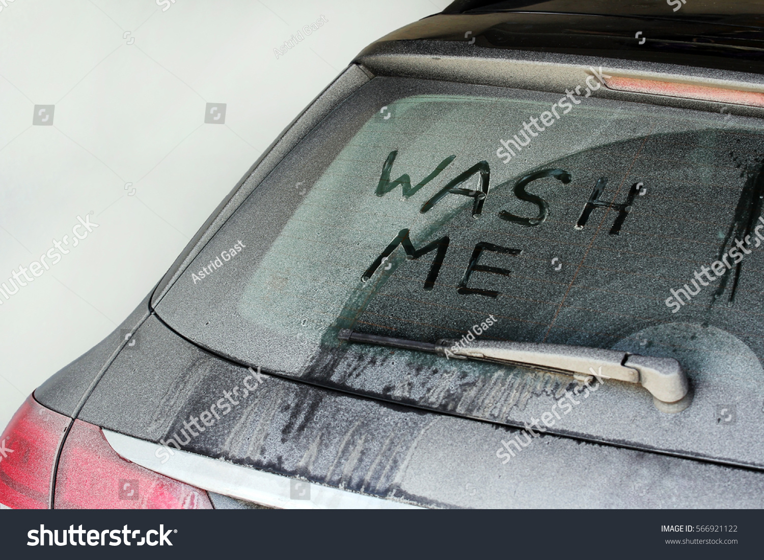 Wash Me Very Dirty Car Winter Stock Photo 566921122 Shutterstock