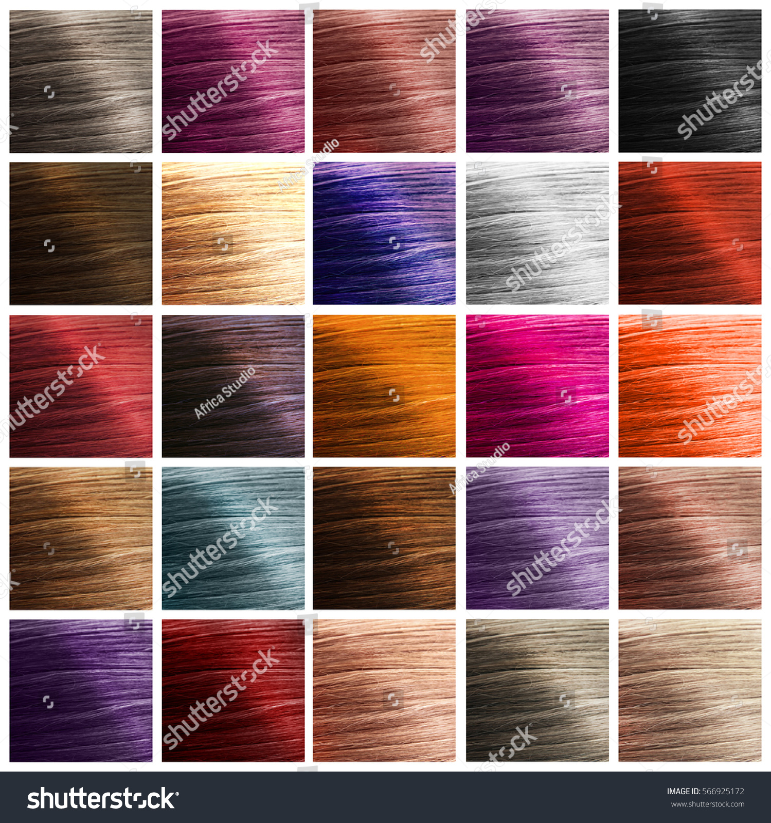Colorful Hair Palette Background Hairstyles Care Stock Photo (Edit ...