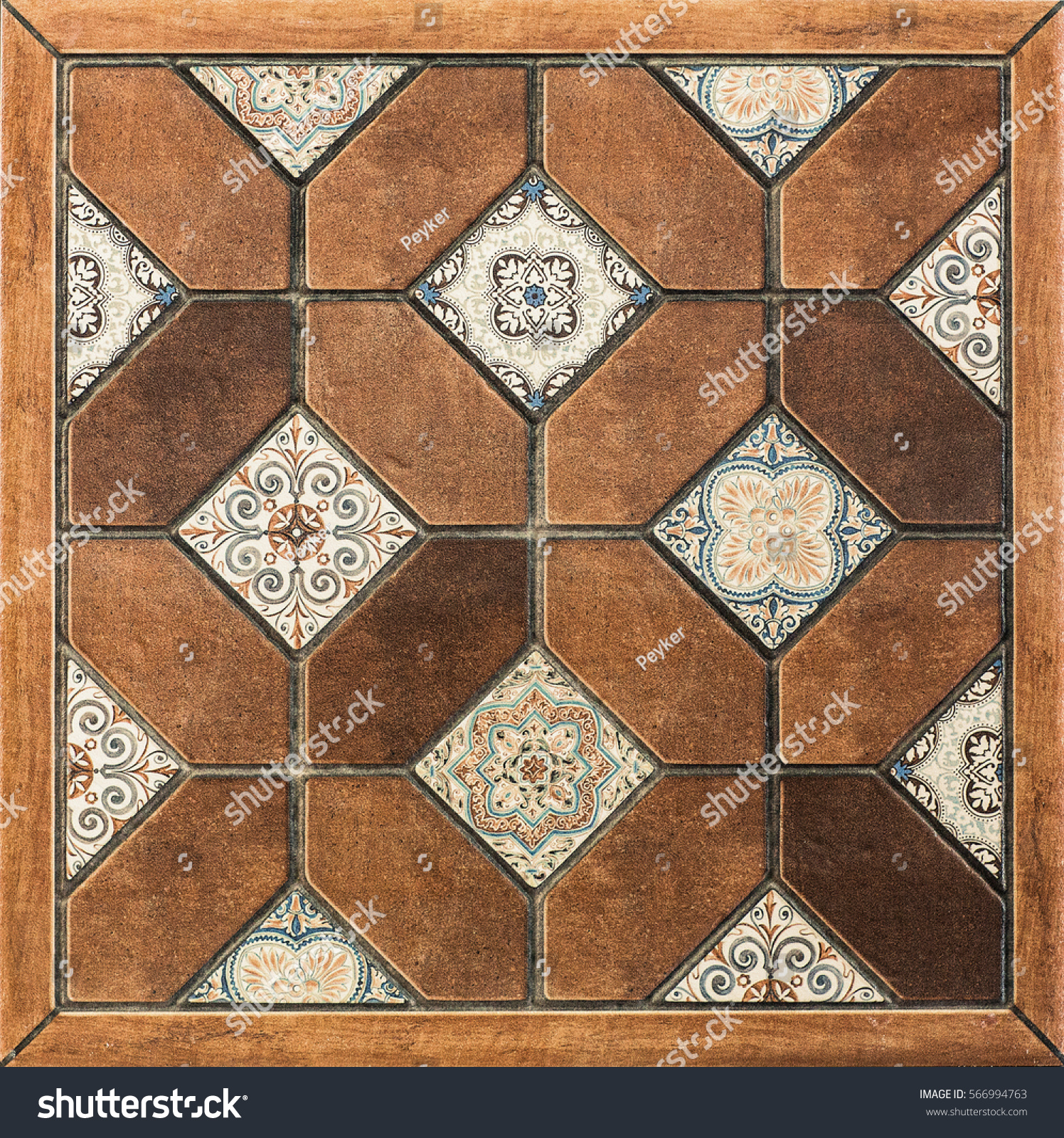 Mosaic floor tile designs