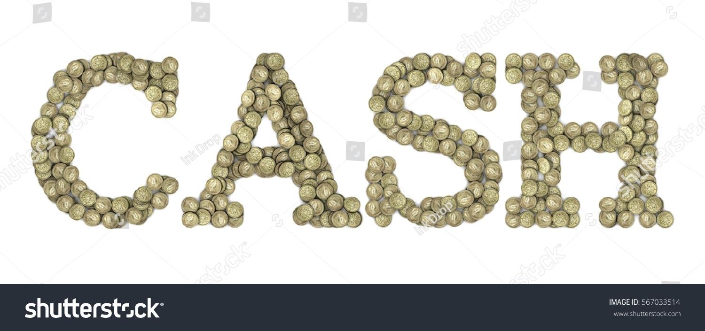 Cash Word Made British Sterling Pound Stock Illustration 567033514