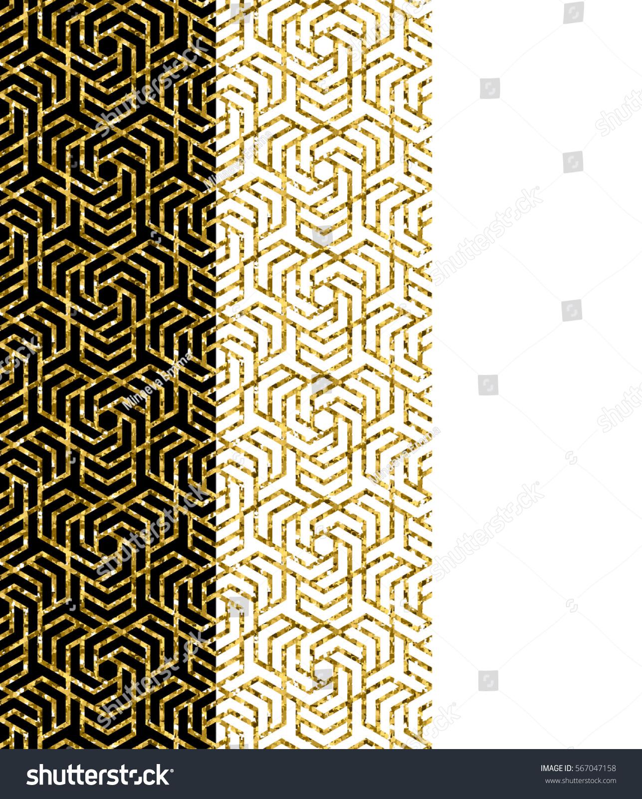 Set Of Traditional Arabic Ornaments Vector Graphics Golden Design Element