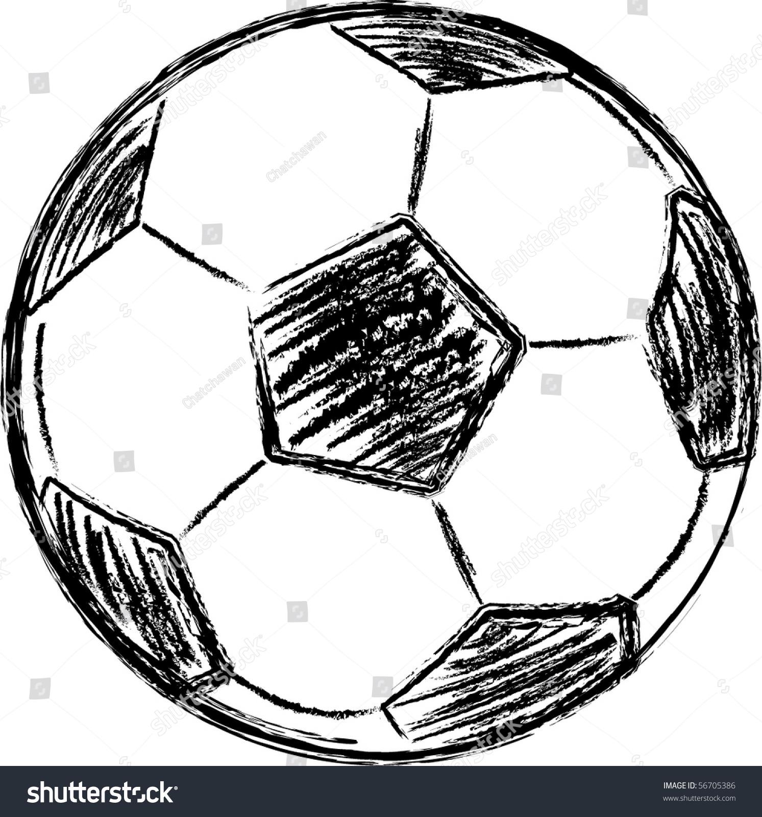 Vector Football Sketch - 56705386  Shutterstock