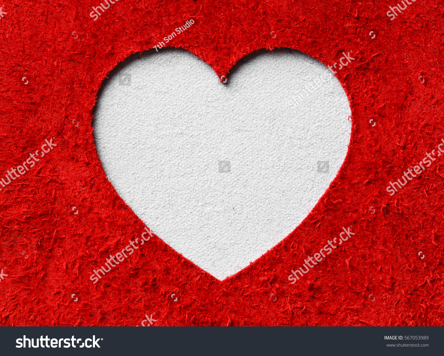 bcfc392f443 Heart Shape Red White Color Genuine Stock Photo (Edit Now) 567053989 ...