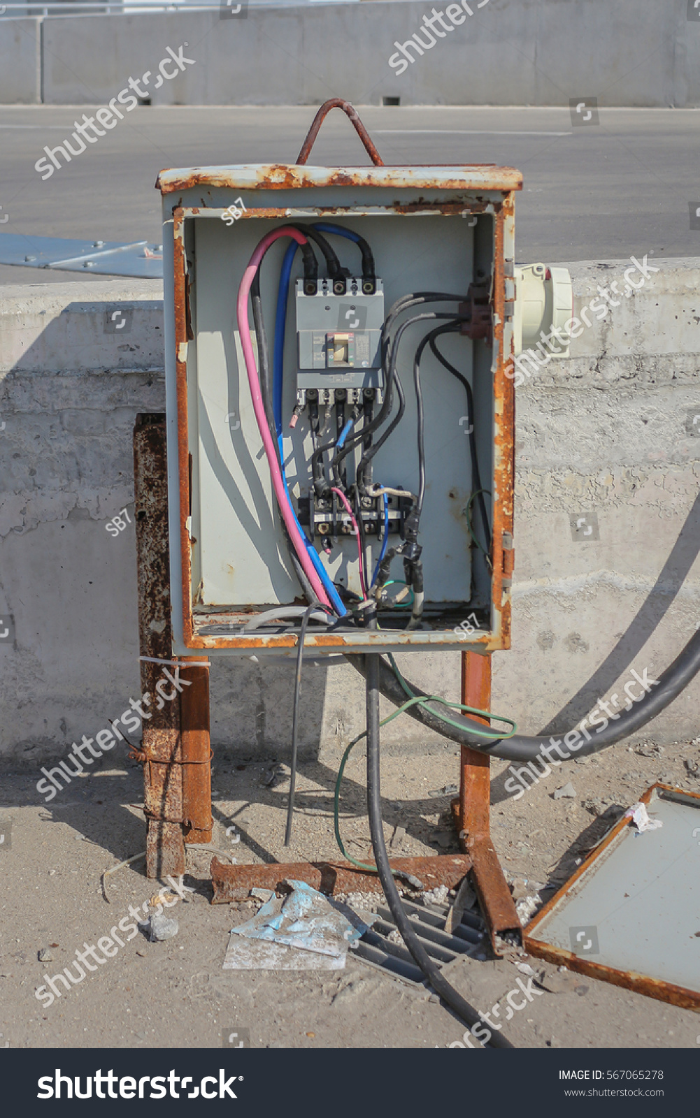 temporary electrical panel control distribute electrical stock photo rh shutterstock com