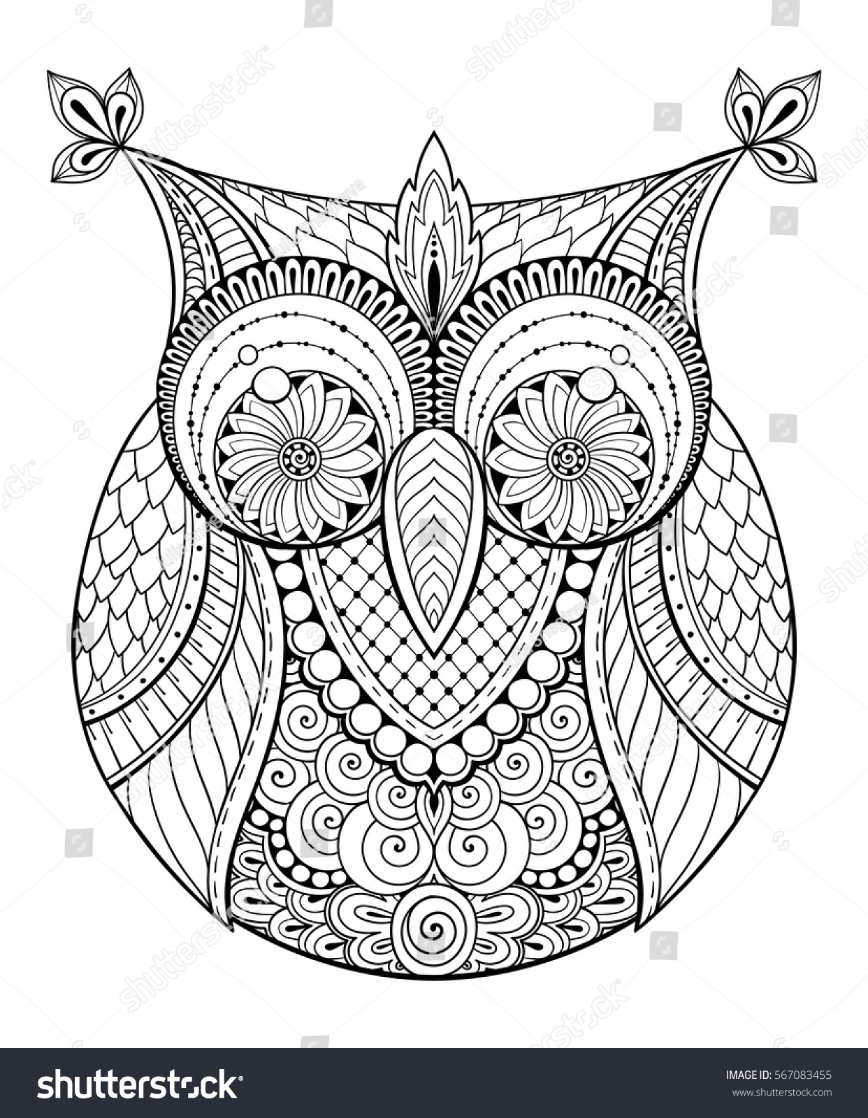 aztec owl coloring pages - photo#14