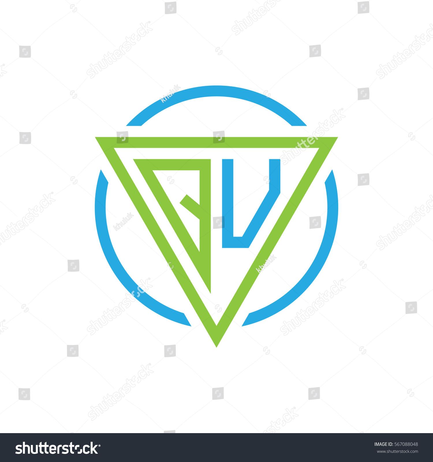 Initial letter logo triangle circle blue stock vector 567088048 initial letter logo triangle circle blue green buycottarizona