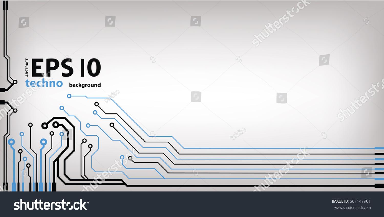 Abstract Vector Background High Tech Circuit Stock Vector ...