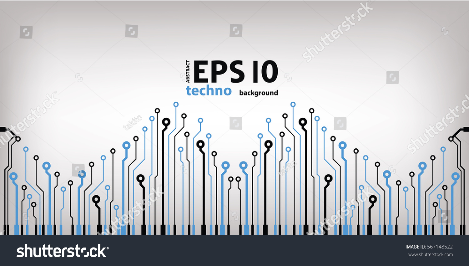 Abstract Vector Background High Tech Circuit Stock Royalty Photo Of Blue With Board Microchip Illustration