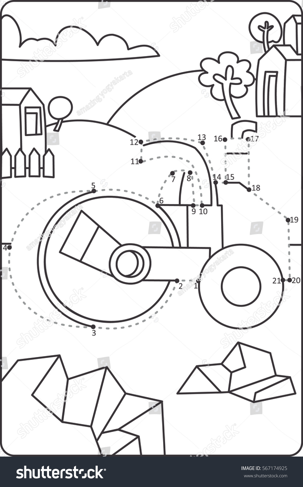 dot dot drawing asphalt roller car stock vector royalty free