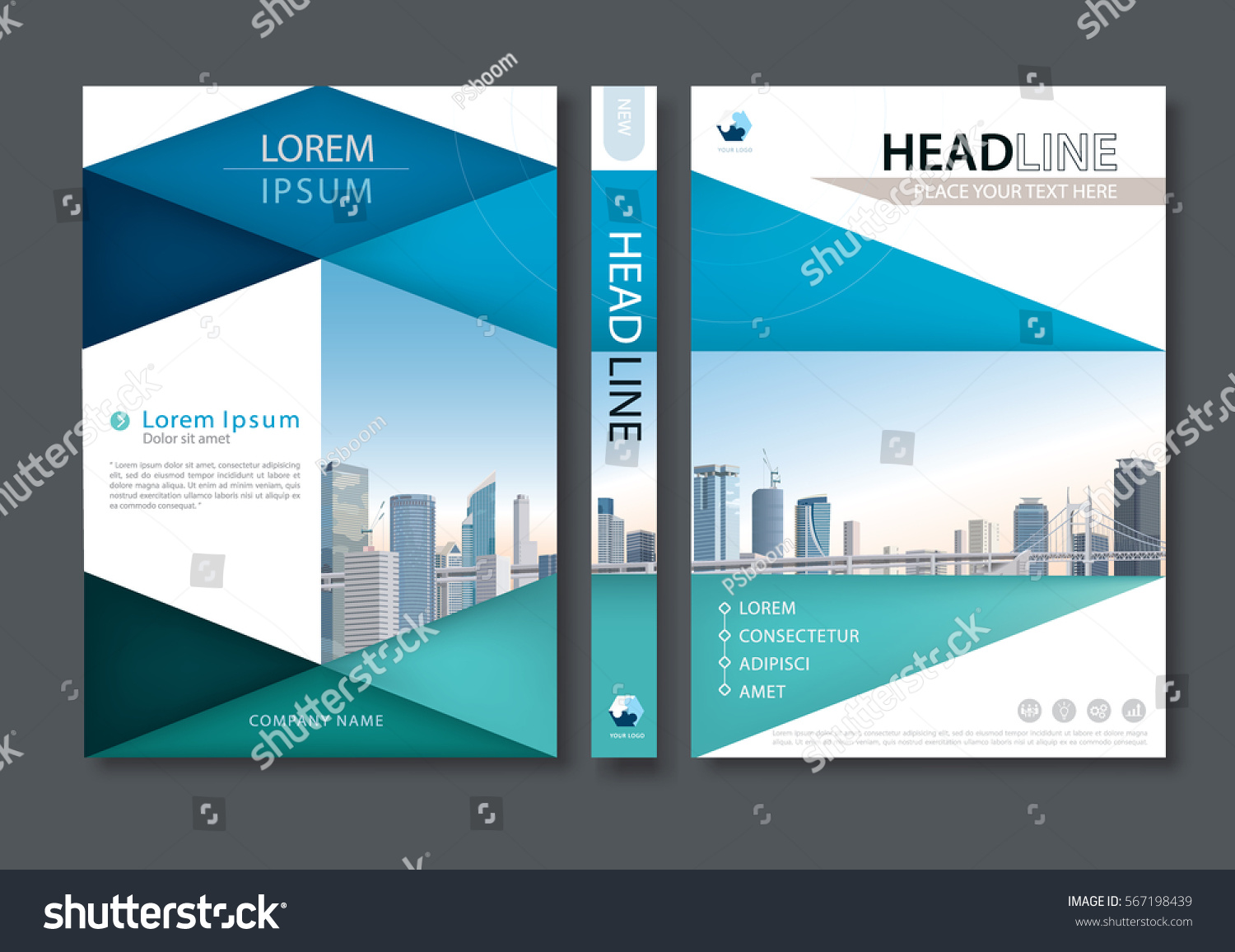 blue green flyer design template vector stock vector  blue green flyer design template vector leaflet cover presentation abstract flat background book cover