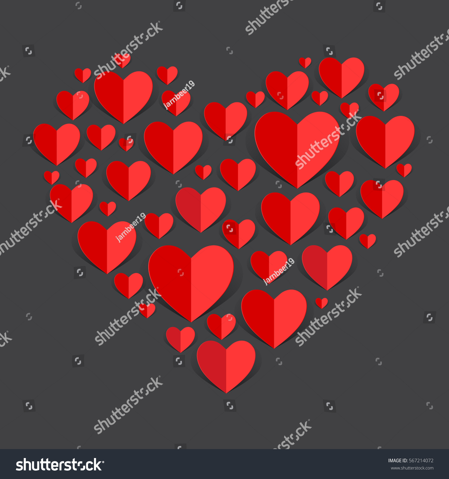 love hearts valentines day background paper stock vector (royalty