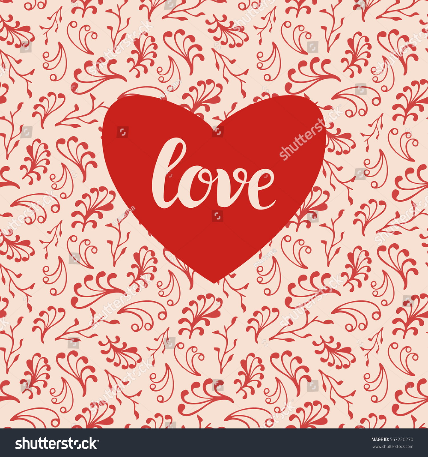 Background Valentines Day Card Wedding Invitation Stock Vector HD ...