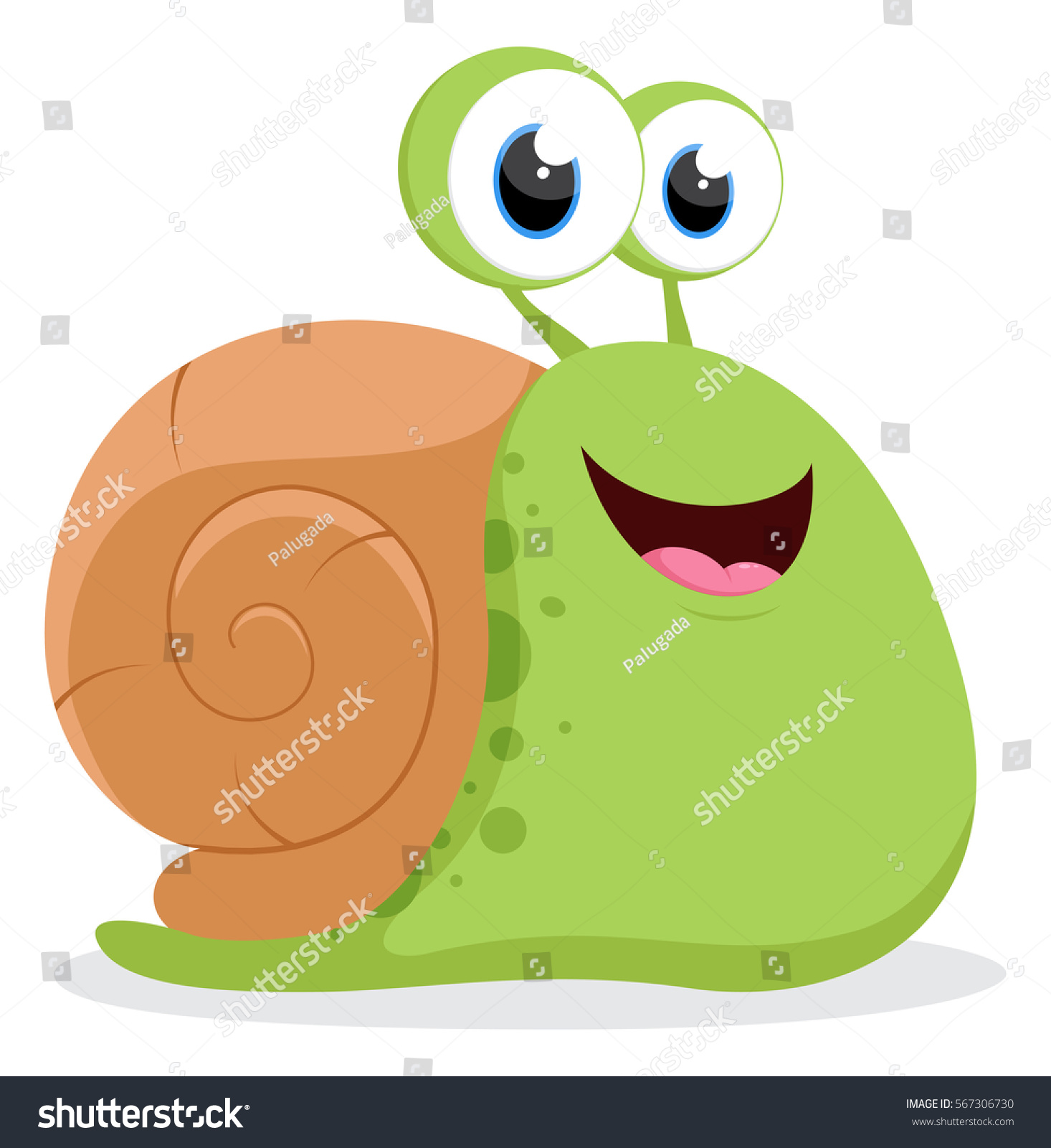 how to draw a cute snail