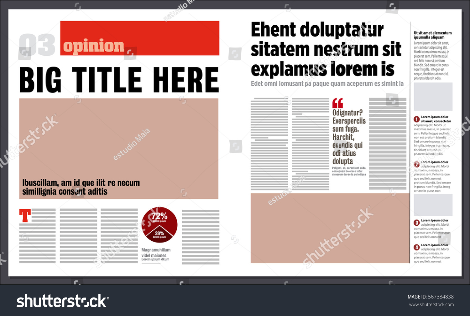 modern graphical design newspaper template stock vector  modern graphical design newspaper template